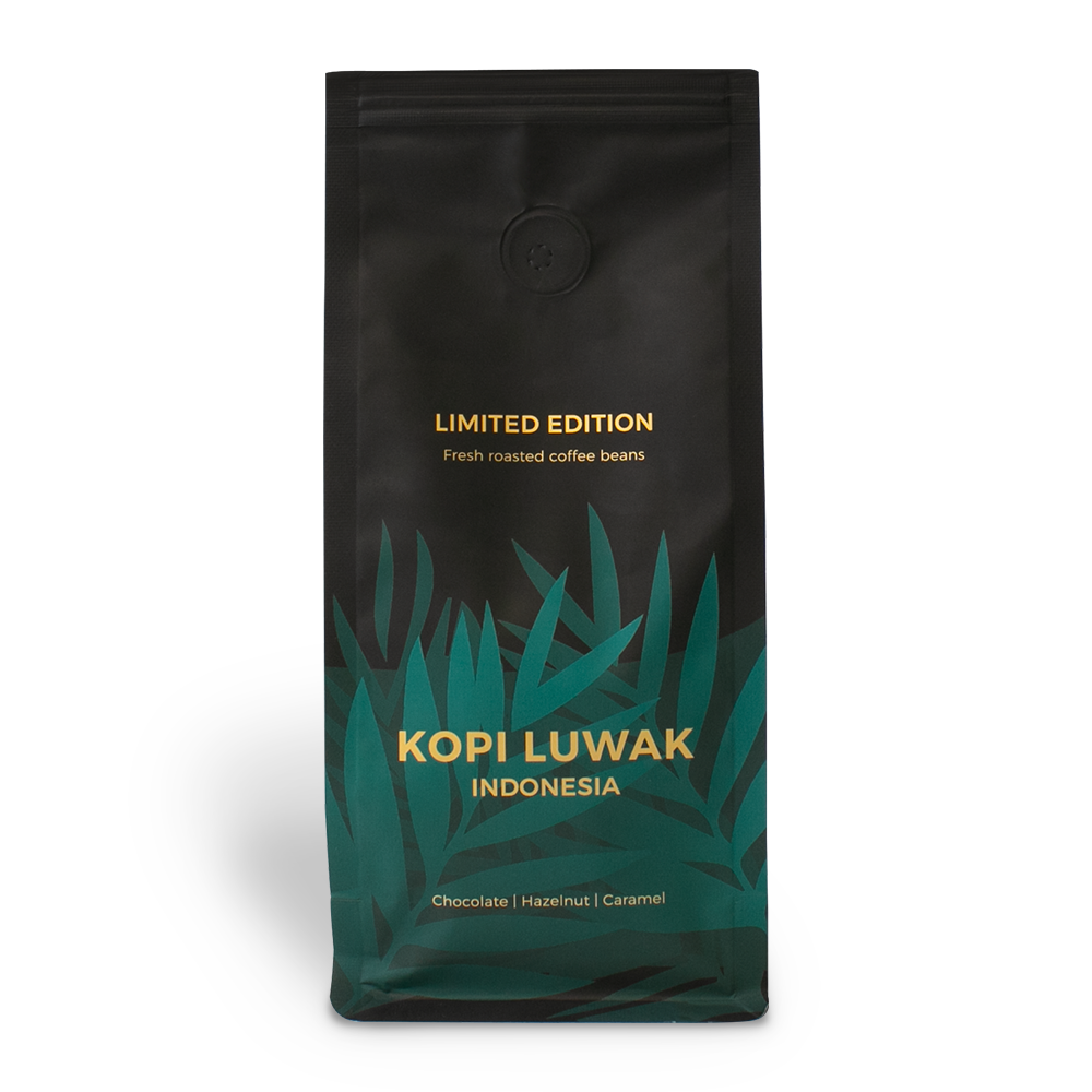 "Single origin coffee beans ""Indonesia Kopi Luwak"", 250 g"