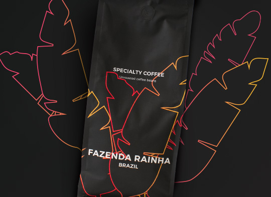 "Unroasted Specialty coffee beans ""Brazil Fazenda Rainha"", 1 kg"
