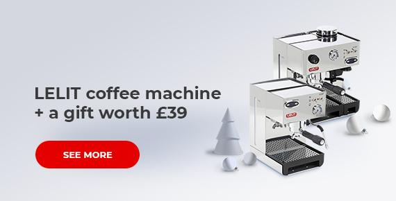 LELIT coffee machine + a gift worth £39