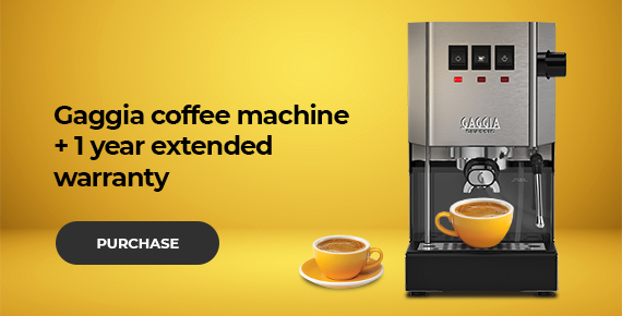 Gaggia coffee machine + gift
