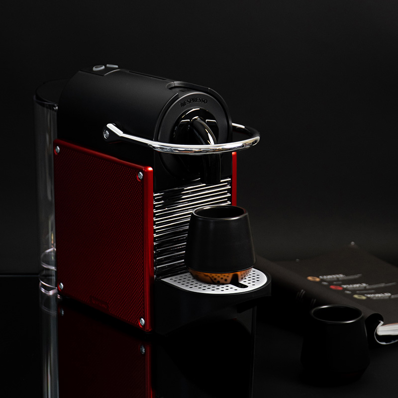 "Nespresso ""Pixie Dark Red"" coffee machine only £99"