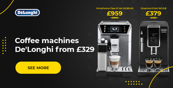 De'Longhi coffee machines from £329