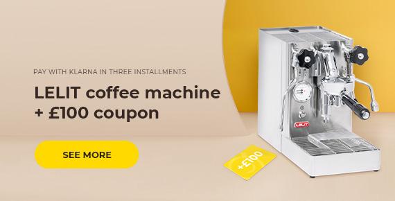 LELIT coffee machine + £100 coupon