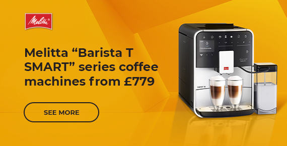 "Melitta ""Barista T SMART"" series coffee machines from £779"