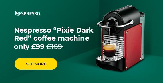 """Nespresso """"Pixie"""" coffee machines only £99"""