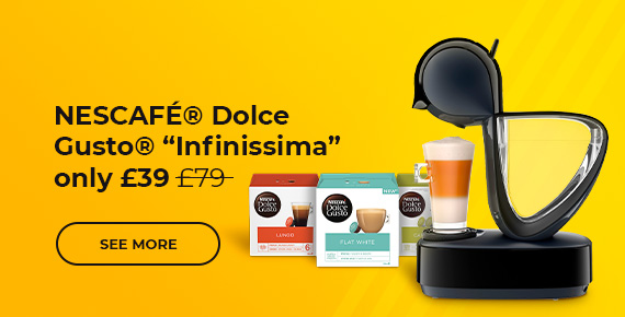 """NESCAFÉ® Dolce Gusto® """"Infinissima EDG 160.A"""" coffee machine only £39"""