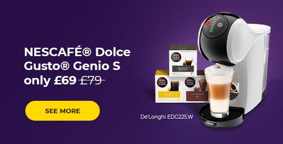 Coffee machine NESCAFÉ® Dolce Gusto® GENIO S EDG225.W only £69