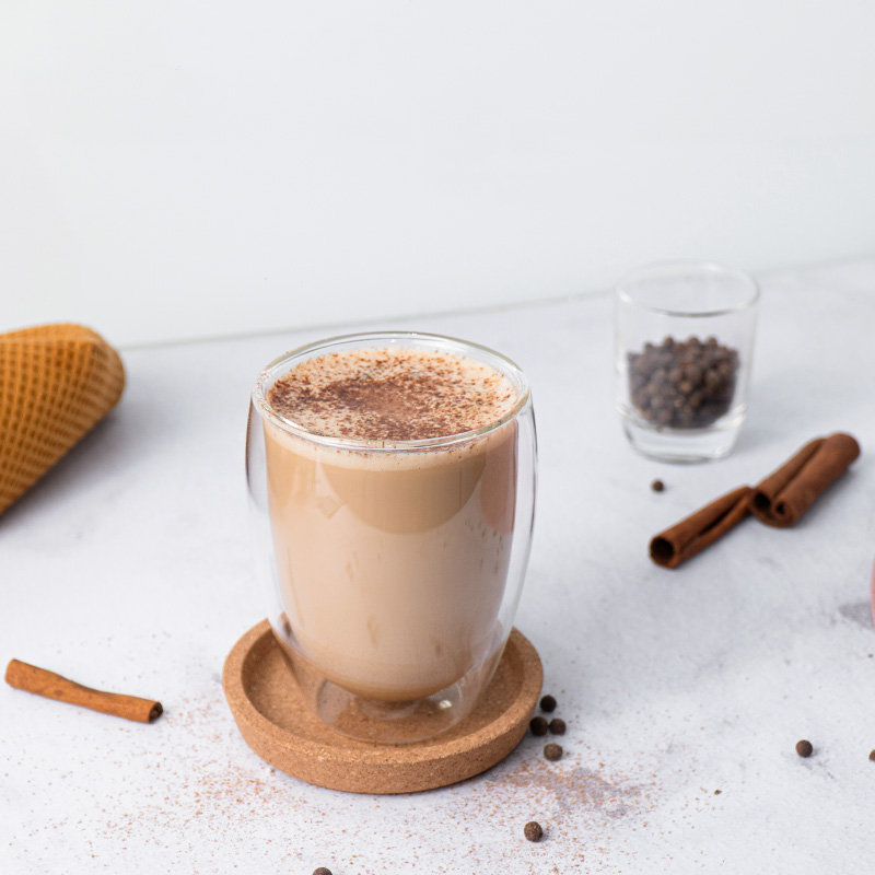 Coffee with ground pepper