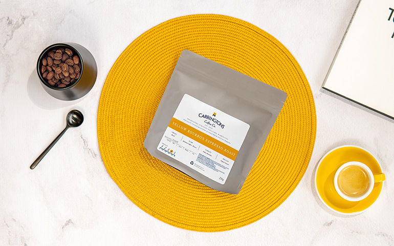"Coffee beans Carringtons Coffee Co. ""Brazil Yellow Bourbon Espresso"""
