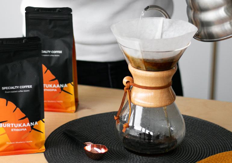 Chemex drip coffee maker