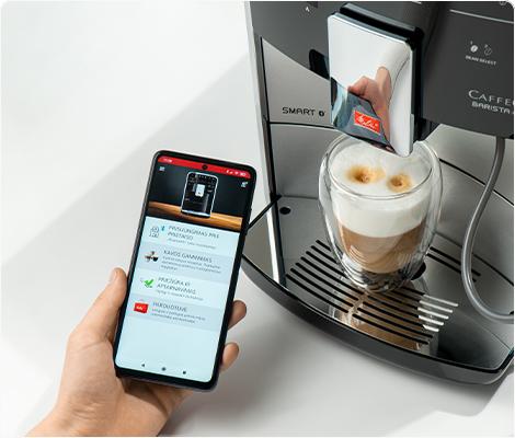 """Control via smart app """"Melitta® Connect"""""""