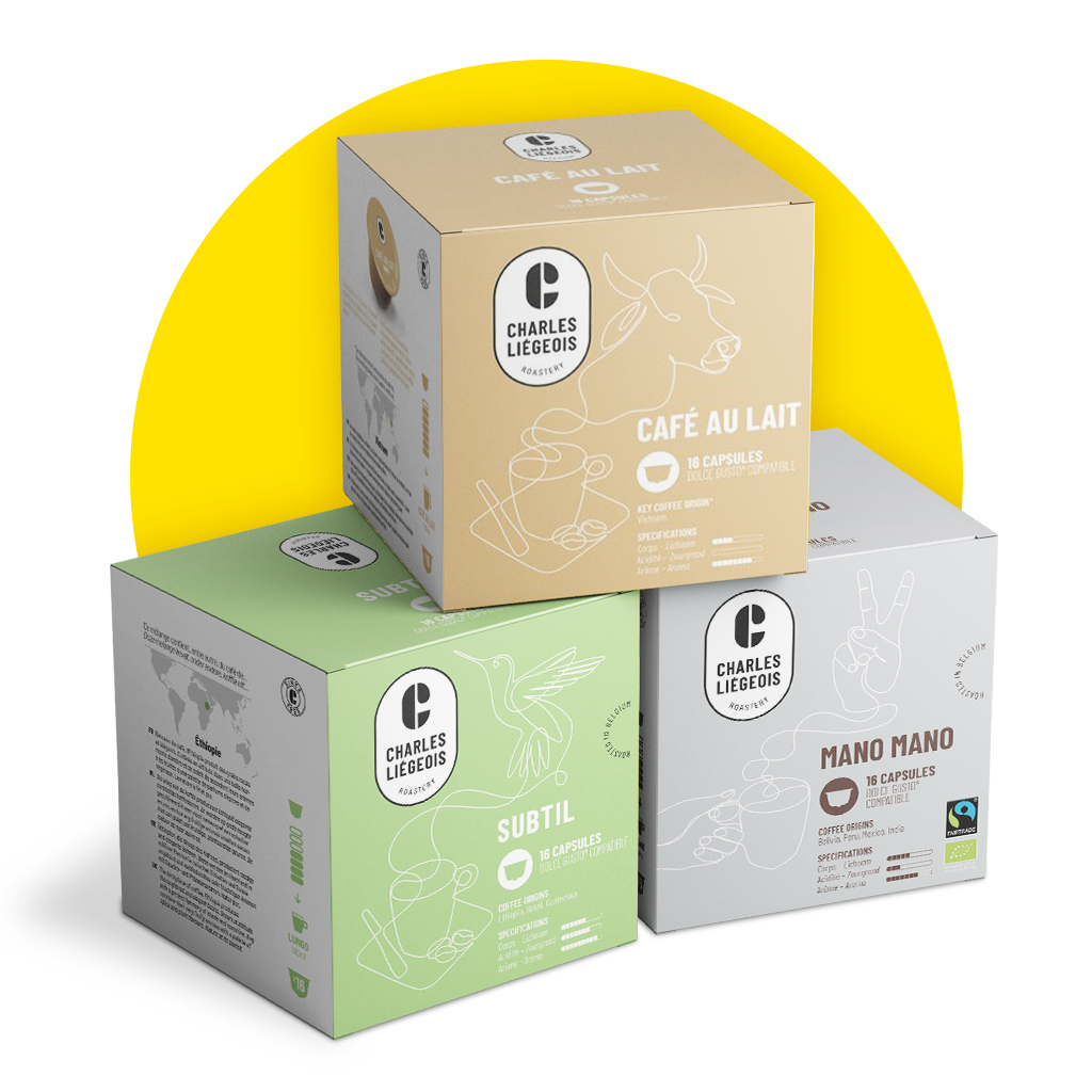Charles Liégeois Dolce Gusto® coffee capsules -30%