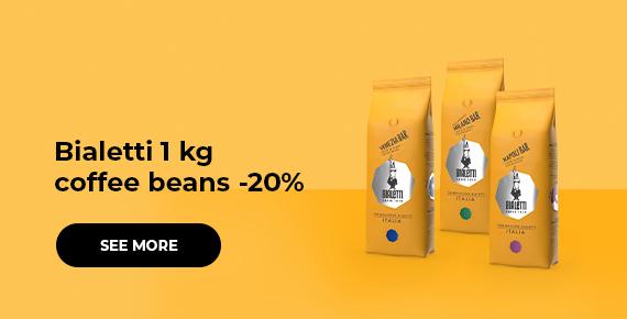 Bialetti 1 kg coffee beans -20%