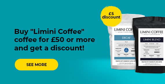 """Buy """"Limini Coffee"""" coffee for £50 or more and get a discount!"""