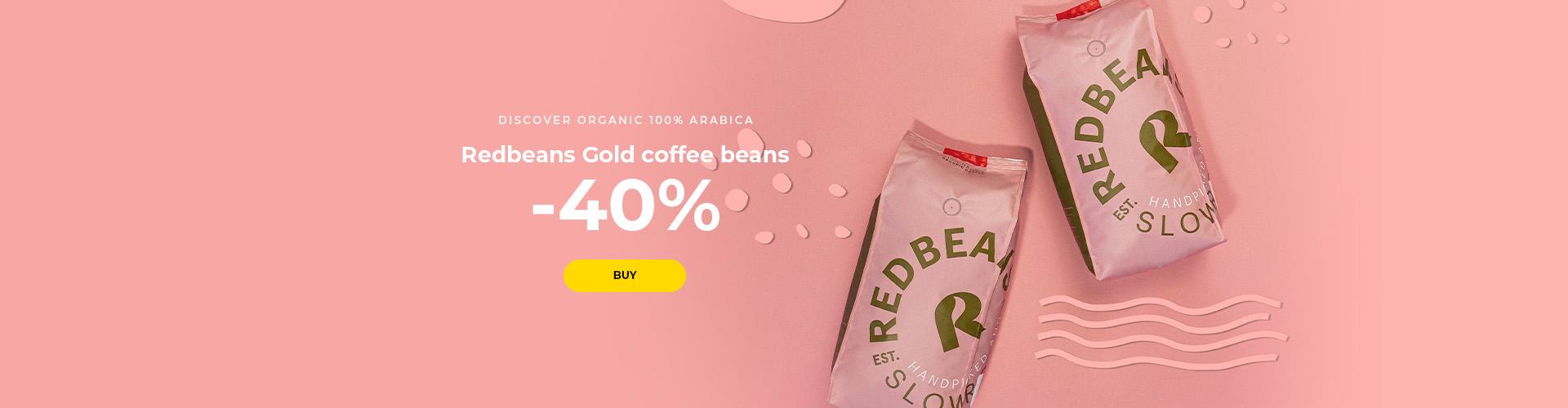 Redbeans Gold coffee beans -40%