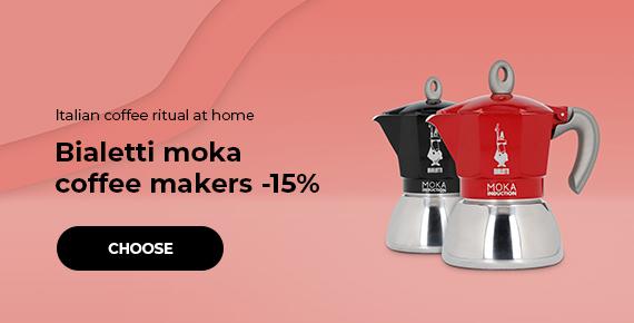 Bialetti moka coffee makers -15%