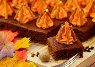 Dan's Vegan Pumpkin Spice Latte Cake, with Bourbon Buttercream Bonfires