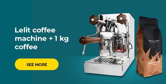 Lelit coffee machine + 1 kg coffee