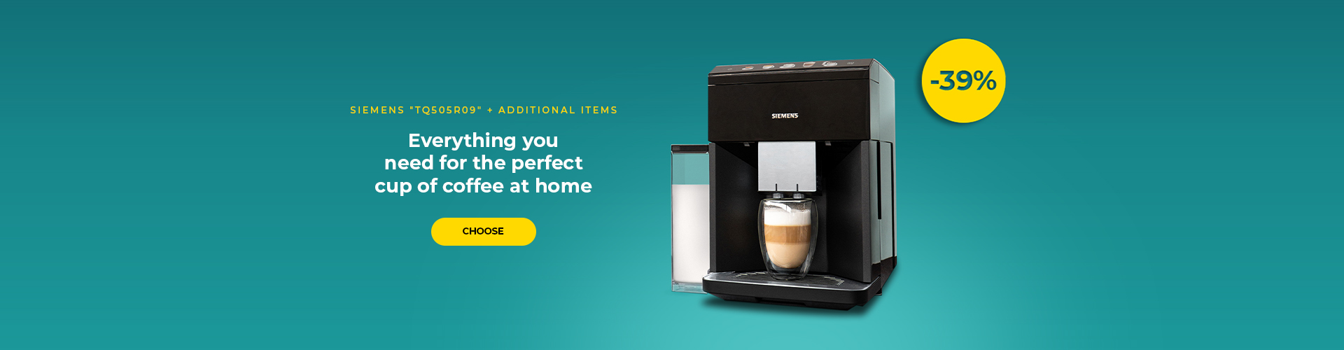 "Coffee machine Siemens ""TQ505R09"" + additional items"